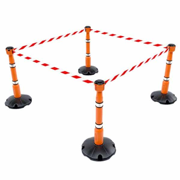 stanchion and retractable tape barrier