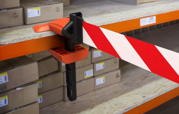 clamp for safety barrier