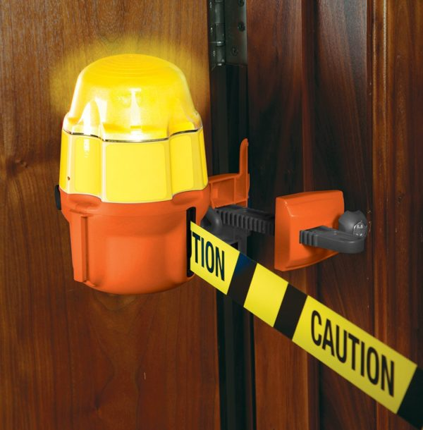safety light retractable barrier