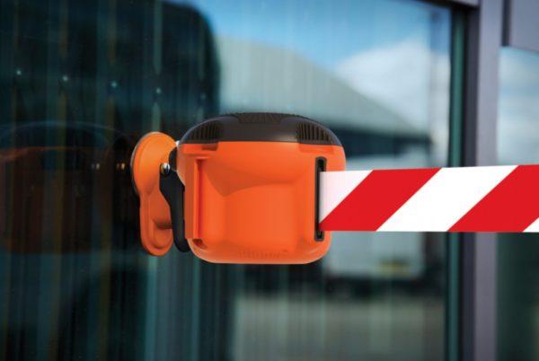 glass attachment belt barrier